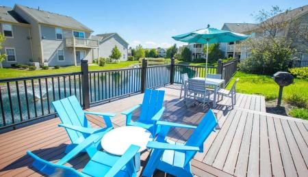 Outdoor pool deck lounge