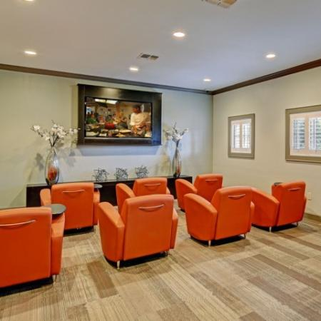 Media room at Brisa at Shadowlake Apartments in Houston, TX