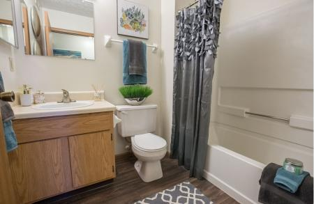 Bathroom at Sterling Park Apartments in Grove City, Ohio