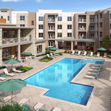 Swimming pool at Mave Apartments in Stoneham, MA