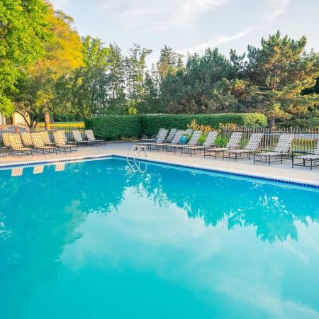 Swimming pool with poolside WiFi at Spring Valley Apartments in Farmington Hills, Michigan