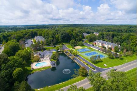 Aerial photo at Summer Ridge Apartments in Kalamazoo, Michigan