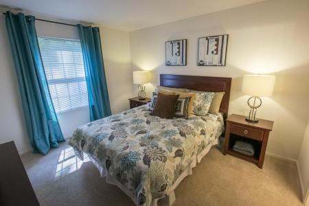 Bedroom at Summer Ridge Apartments in Kalamazoo, Michigan