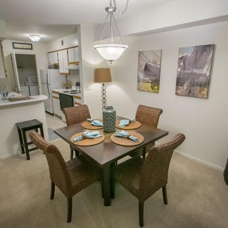 Dining room at Summer Ridge Apartments in Kalamazoo, Michigan