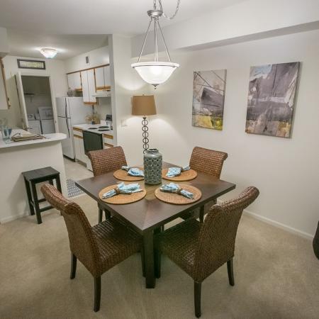 Dining room at Summer Ridge Apartments in Kalamazoo, Michigan