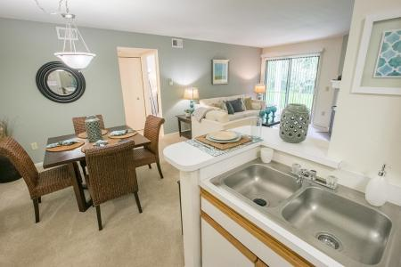 Open floorplans at Summer Ridge Apartments in Kalamazoo, Michigan