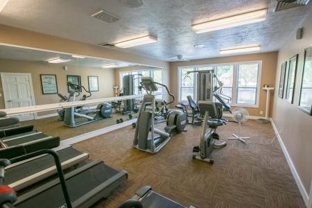Fitness center at Summer Ridge Apartments in Kalamazoo, Michigan