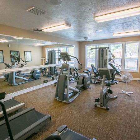 Fitness center at Summer Ridge Apartments in Kalamazoo, Michigan