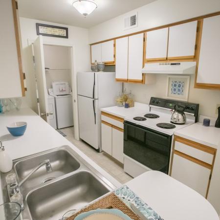 Kitchen at Summer Ridge Apartments in Kalamazoo, Michigan