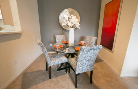 Dining room at Center Point Apartments in Indianapolis, IN