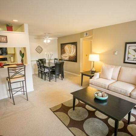 Open Concept Living Room at The Landings at the Preserve in Battle Creek, Michigan