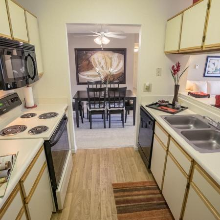 Kitchen at The Landings at the Preserve in Battle Creek, Michigan