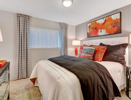 Master bedroom at Grammercy Apartment Homes in Renton WA