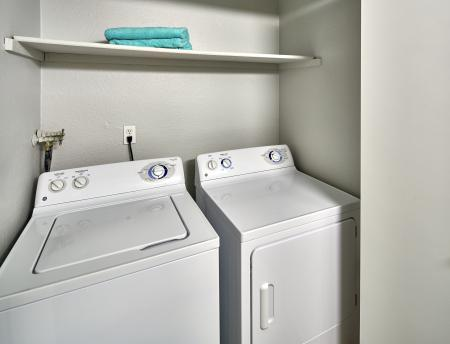 Washer and dryer at Grammercy Apartment Homes in Renton WA