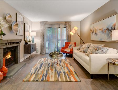 Living room at Grammercy Apartment Homes in Renton WA