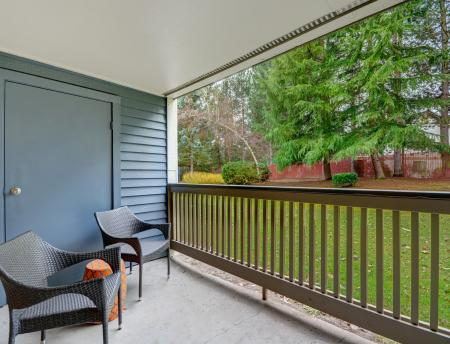 Patio at Grammercy Apartment Homes in Renton WA
