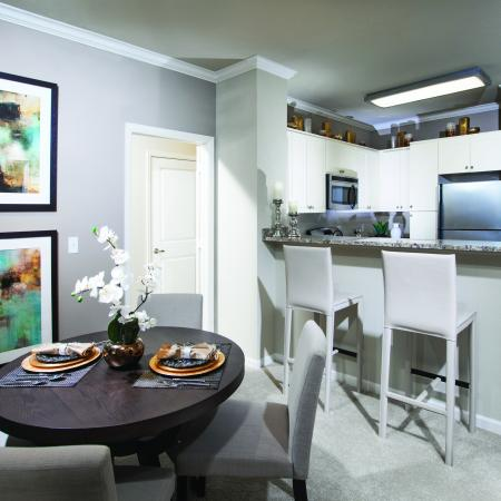 Dining room at Cerano Apartments in Milpitas CA