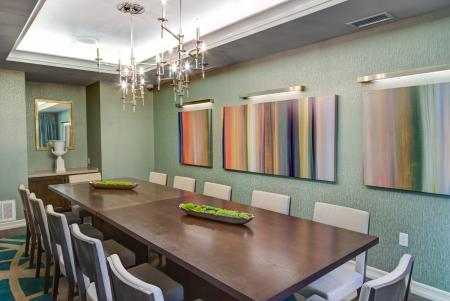 Private dining at Cerano Apartments in Milpitas CA