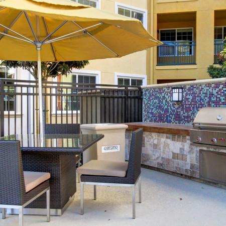 BBQ Grills at Cerano Apartments in Milpitas CA