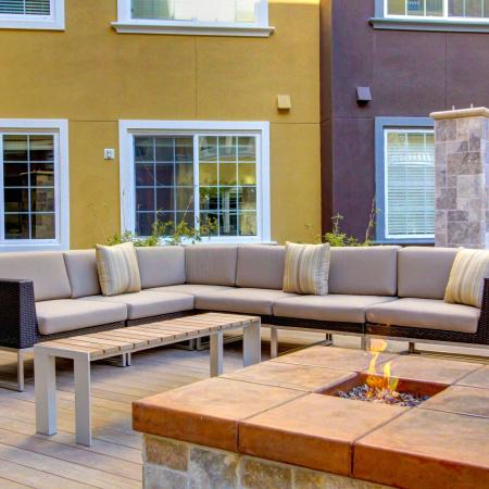 Fire pit at Cerano Apartments in Milpitas CA