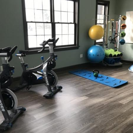 Brand new yoga studio at Village at Avon Apartments