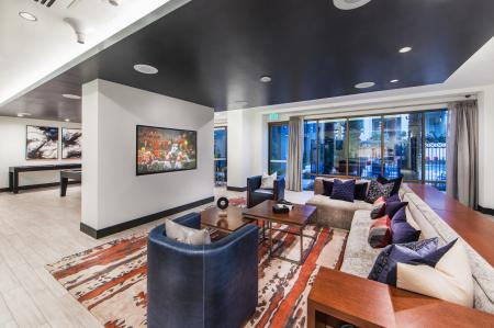 Resident lounge at Avaire South Bay Apartments in Inglewood CA