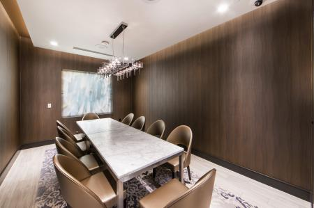 Private dining room at Avaire South Bay Apartments in Inglewood CA