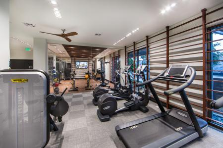Fitness center at Avaire South Bay Apartments in Inglewood CA