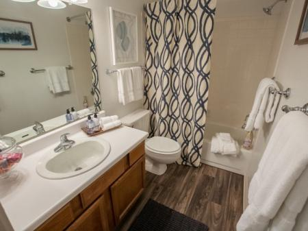 Spacious bathrooms at Williamsburg Townhomes in Sagamore Hills, Ohio