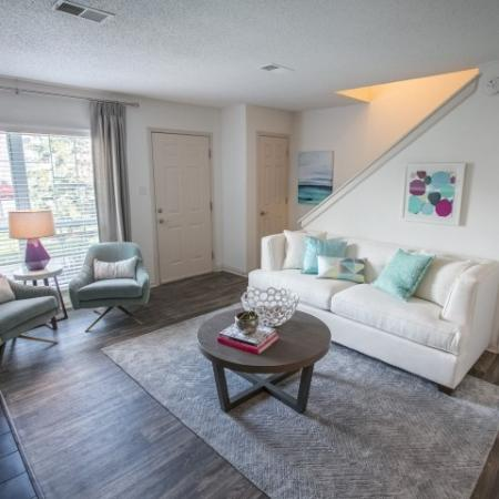 Two-story townhomes at Williamsburg Townhomes Rental Homes in Sagamore Hills, OH