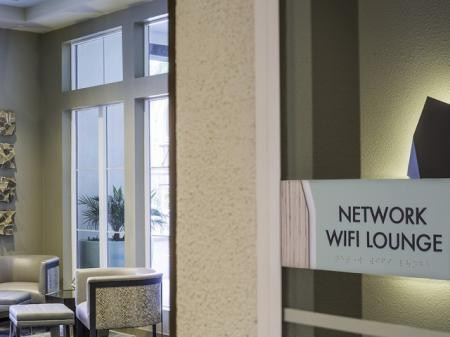 WiFi Lounge at Skye Apartments in Vista, CA.
