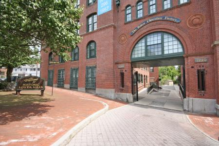 Excellent Lower Mills location, Baker Chocolate Factory Apartments in Boston, MA