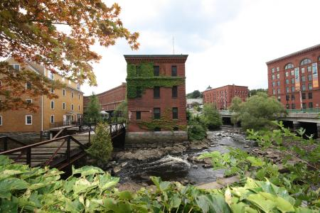 River views at Baker Chocolate Factory Apartments in Boston, MA