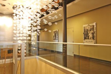 Stunning lobby at Baker Chocolate Factory Apartments in Boston, MA