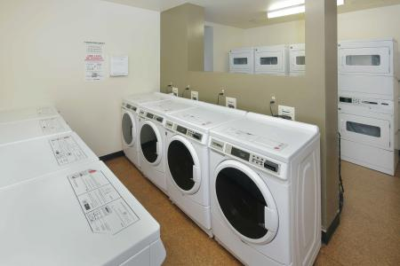 Ample washers and dryers at Baker Chocolate Factory Apartments in Boston, MA