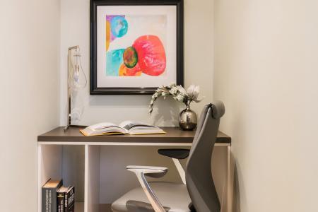 Private spaces for business or quiet at Baker Chocolate Factory Apartments in Boston, MA