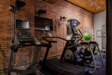 24-hour fitness center at Baker Chocolate Factory in Boston, MA