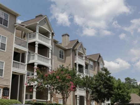 Private balconies at Highland Lake Apartments in Decatur, GA