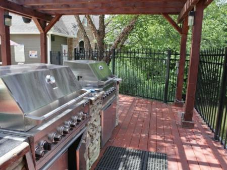 BBQ grills at Highland Lake Apartments in Decatur, GA