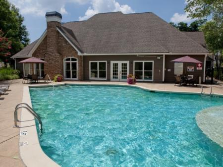 Swimming pool at Highland Lake Apartments in Decatur, GA