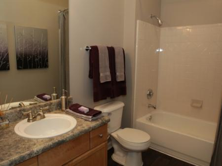 Bathroom at Highland Lake Apartments in Decatur, GA