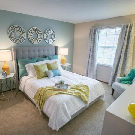 Bedroom at Westchester Townhomes Rental Homes in Westlake, OH