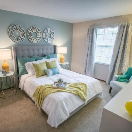Bedroom at Westchester Townhomes Rental Homes in Westlake, OH