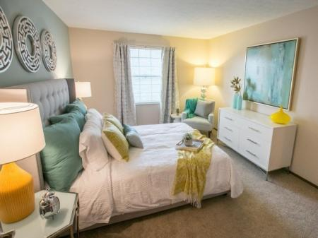 Walk-in closet in the bedroom at Westchester Townhomes