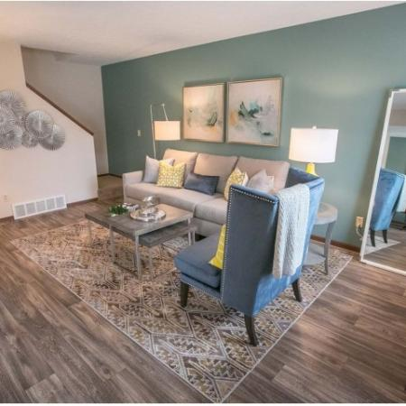 Open floorplans at Westchester Townhomes Rental Homes in Westlake, OH
