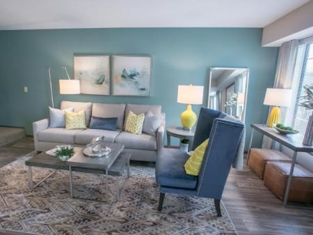 Private apartment entry at Westchester Townhomes