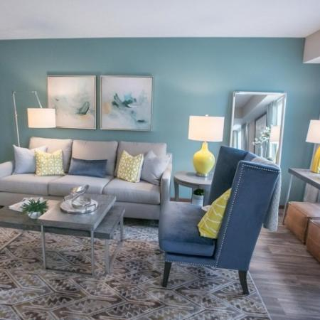 Private apartment entry at Westchester Townhomes Rental Homes in Westlake, OH