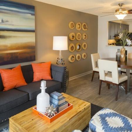 Living room at Water's Edge in Sunrise, FL