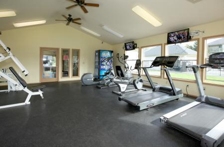 Fitness center at The Mark on 4th Apartments in Everett WA