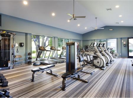 Fitness center at Lakeview at Superstition Springs Apartments in Mesa AZ